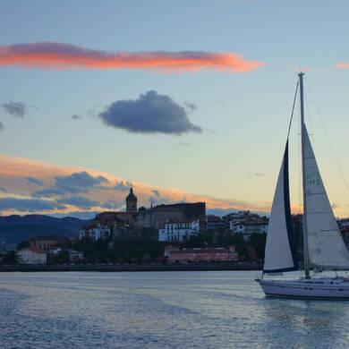 Fontarrabie, promenade en bateau, Jaizkibel, flysch